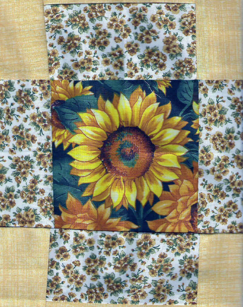 Sunflower Quilt Block